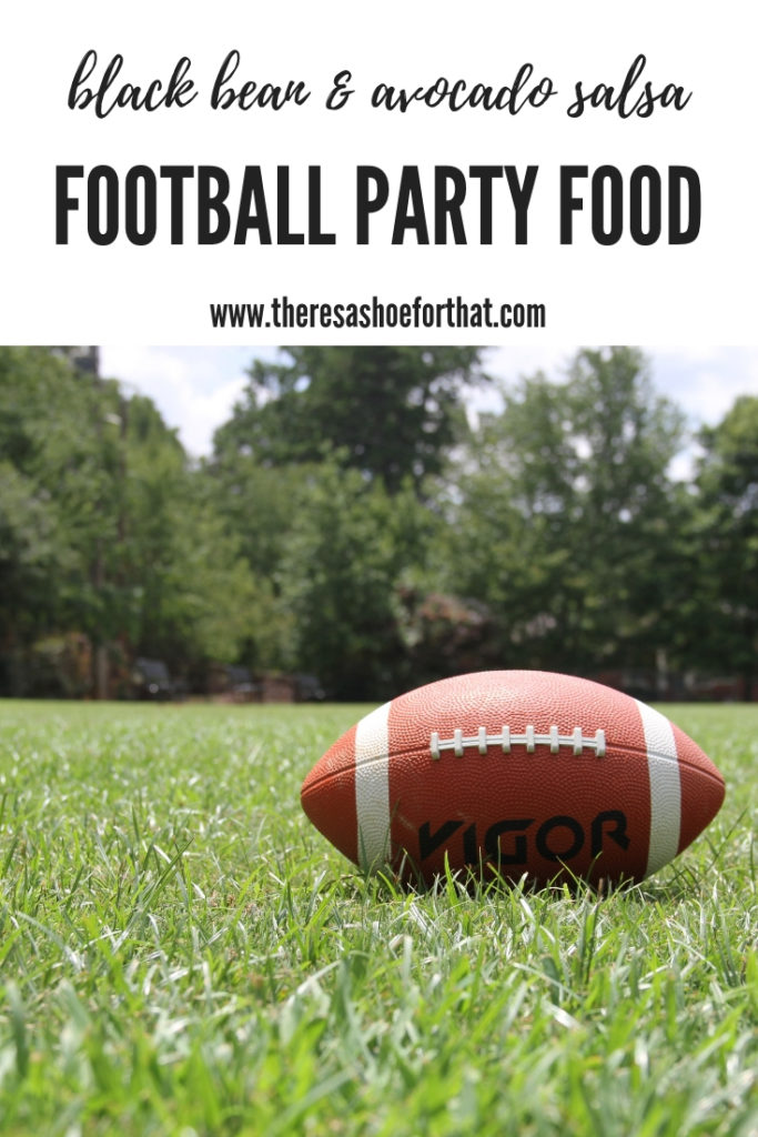 The best salsa for football parties, hockey night in Canada appetizer or the potluck you're going to. #footballpartyfood #salsa #healthyappetizer