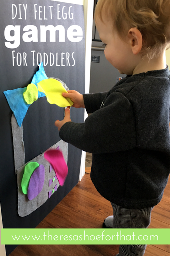 DIY felt egg game for toddlers