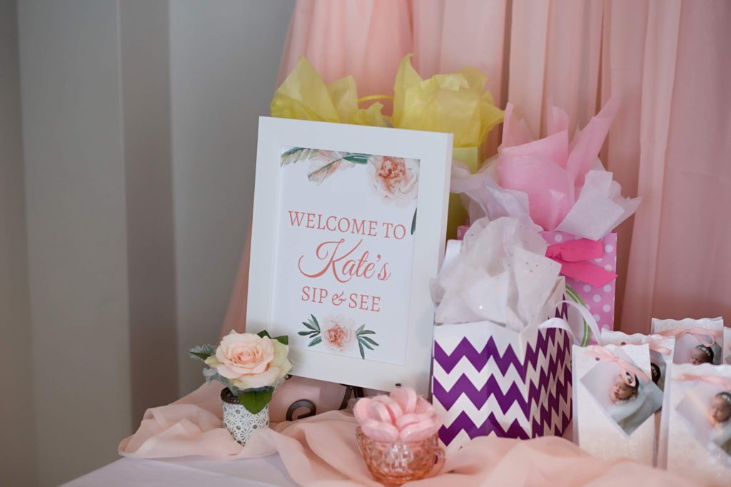 A simple and modern brunch themed sip and see to introduce our baby girl. #sipandsee #babyshower #parenting