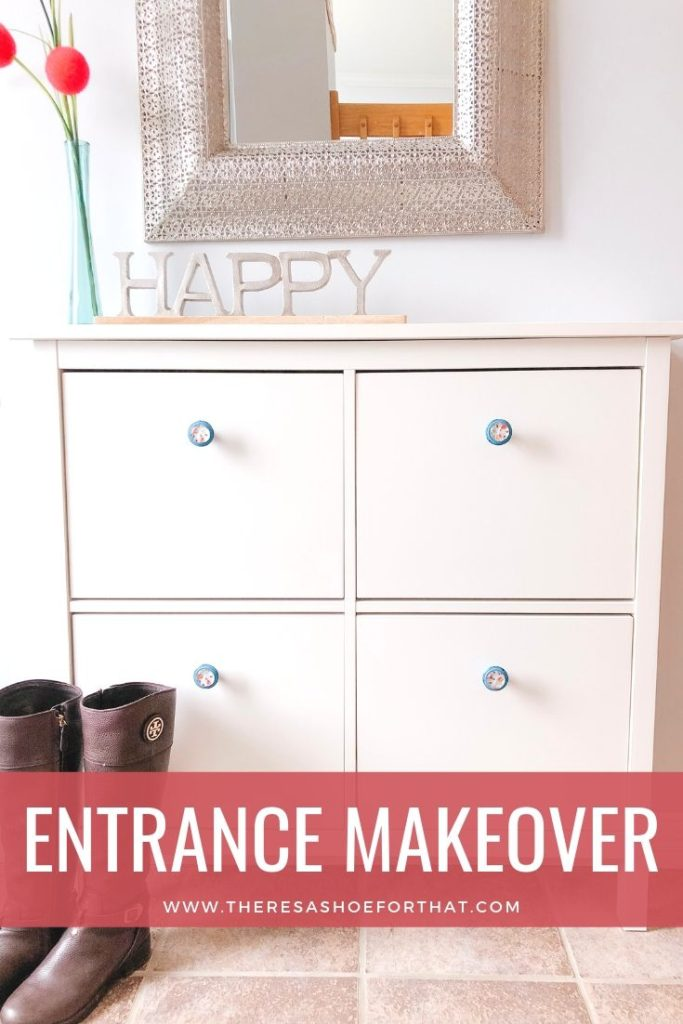 bright and light front entrance makeover