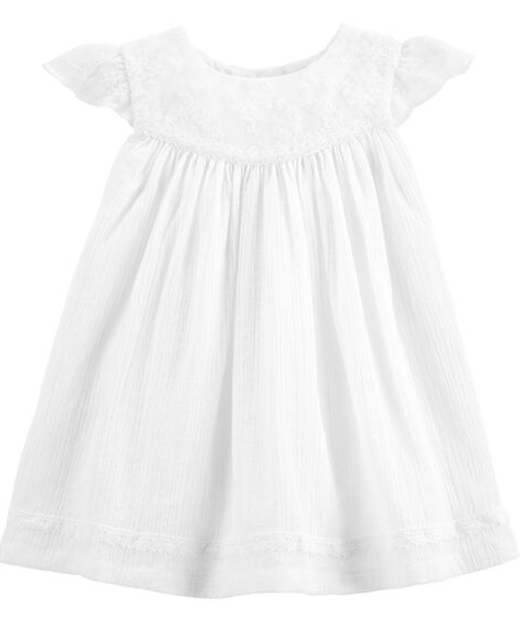 White Dress for Monthly Baby Pictures