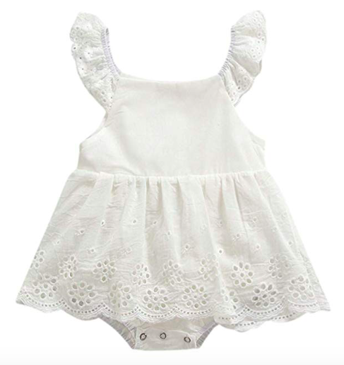 Princess romper for monthly baby pictures