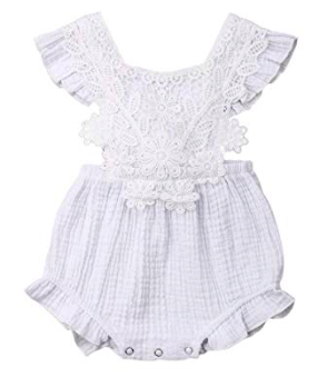 White Romper for Baby girl