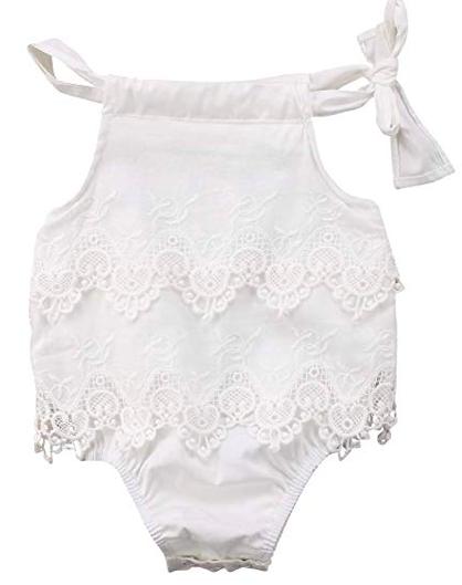 Newborn Baby Lace Romper