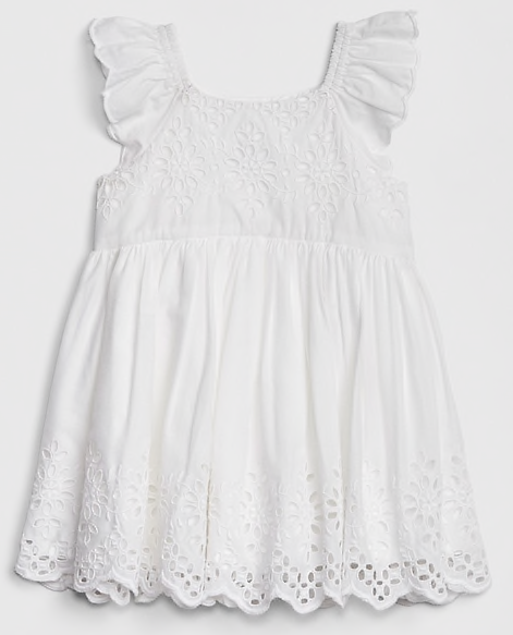 white Dress for Monthly Baby Pictures of Baby girl