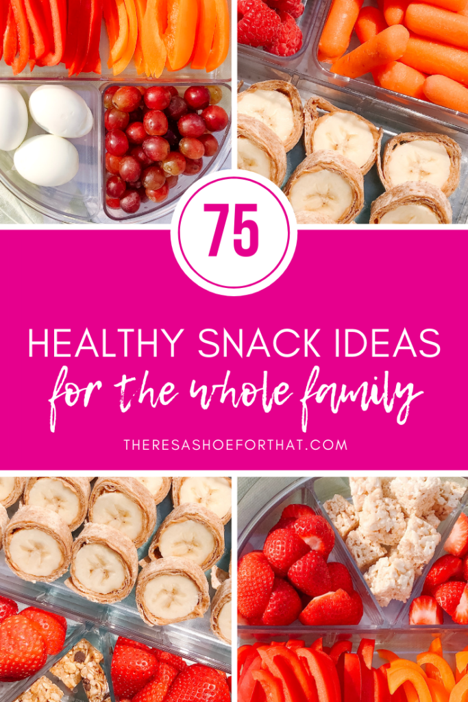 75 Healthy Snack Ideas for the Whole Family you can prepare in advance, keep in the fridge and be prepared for every snack request coming to you