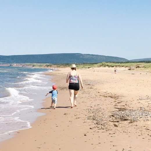 Inverness Beach on Cape Breton Island