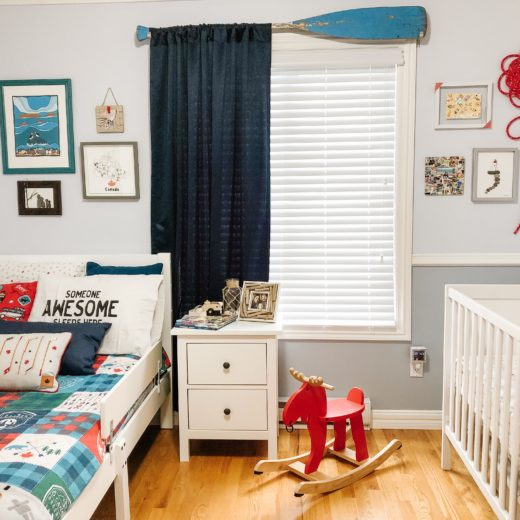 Canada theme child bedroom with gallery wall