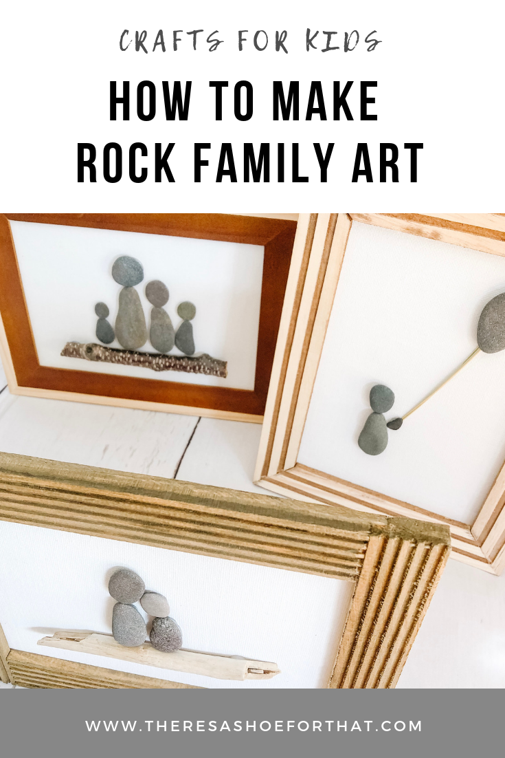 Rock Family Art pieces are easy to make, a fun activity with children and make inexpensive customized holiday gifts for friends and family. These Step by Step instruction will walk you through creating pebble art. #pebbleart #rockfamilyart #craftsforkids