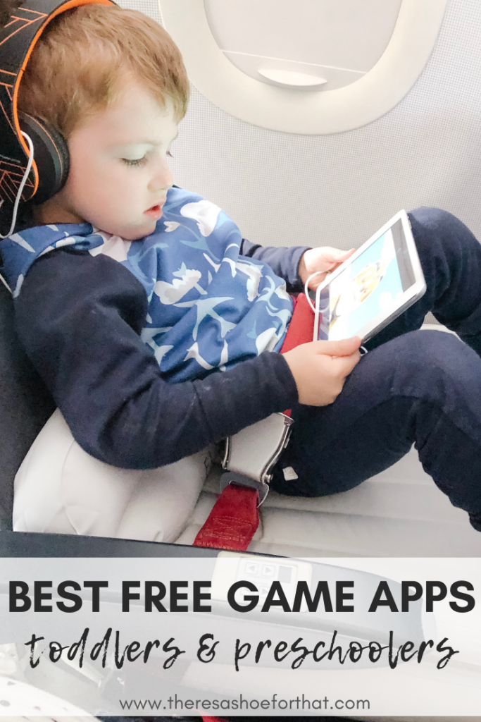 toddler boy playing games on a tablet