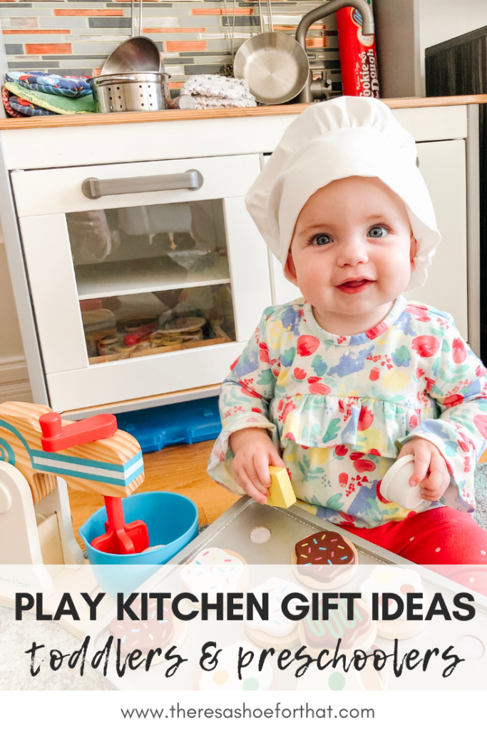 Baby with play Kitchen and Toy Mixer