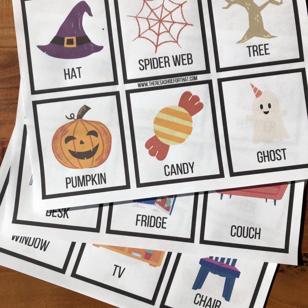 Halloween scavenger hunt free printable